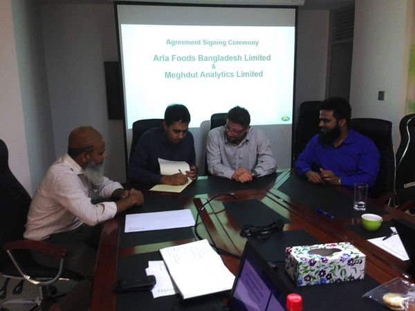 Arla Food Signs Agreement with Meghdut